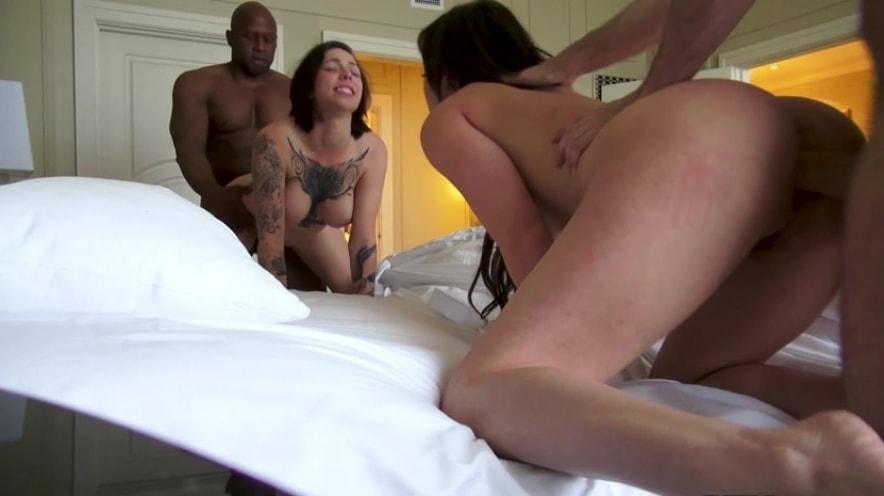Naked Brunette Slut Orgy